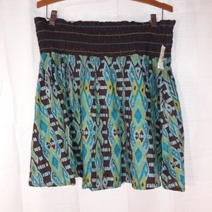 Or uses 100% cotton skirt size large